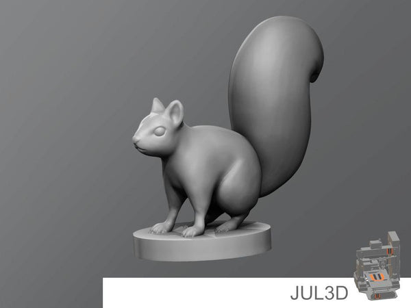 Squirrel Resin Miniature - JUL3D Miniatures