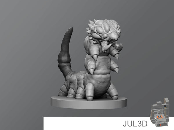 Poison Caterpillar - JUL3D Miniatures