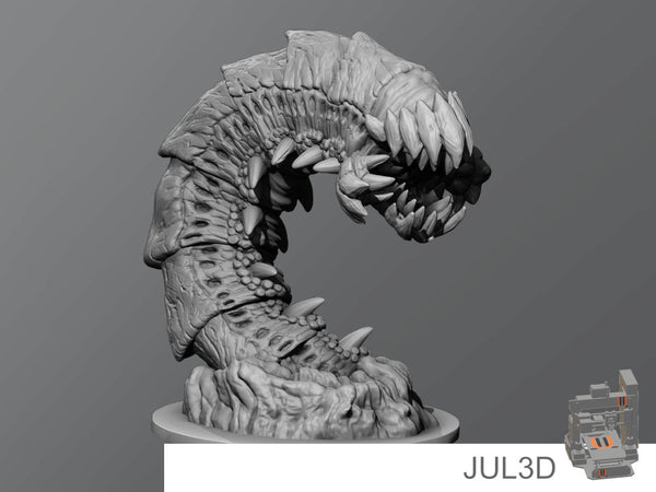 purple worm - JUL3D Miniatures