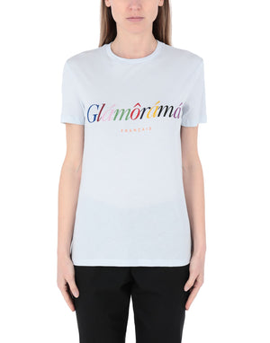 ETRE CECILE - WHITE GLAM T SHIRT - SZ L - NEW