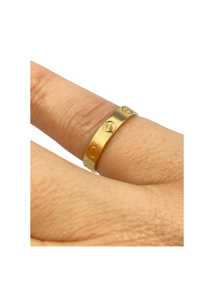 CARTIER - LOVE RING MINI YELLOW GOLD - SZ 52