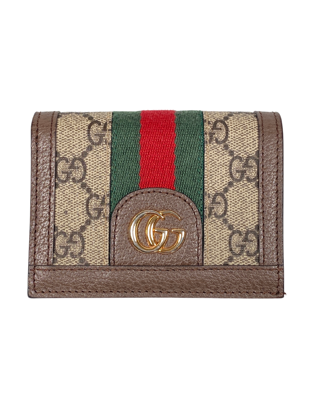 GUCCI - OPHIDIA GG LEATHER WALLET CARD CASE