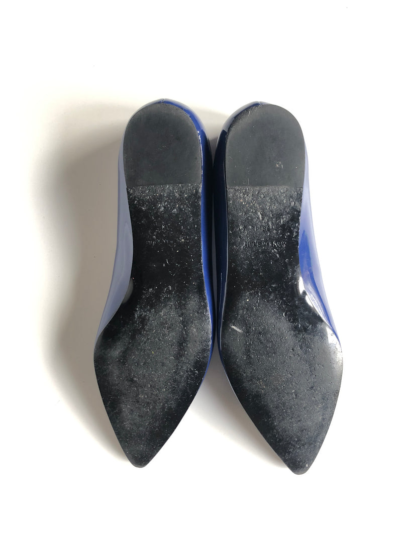 STELLA MCCARTNEY BLUE POINT TOE BALLET FLATS - SZ 38