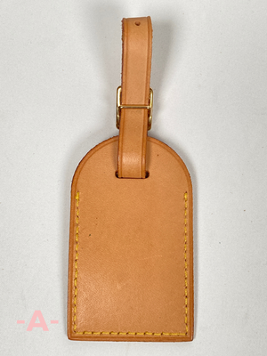 LOUIS VUITTON - VACHETTA LEATHER LUGGAGE TAG & POIGNET 2 PC SET