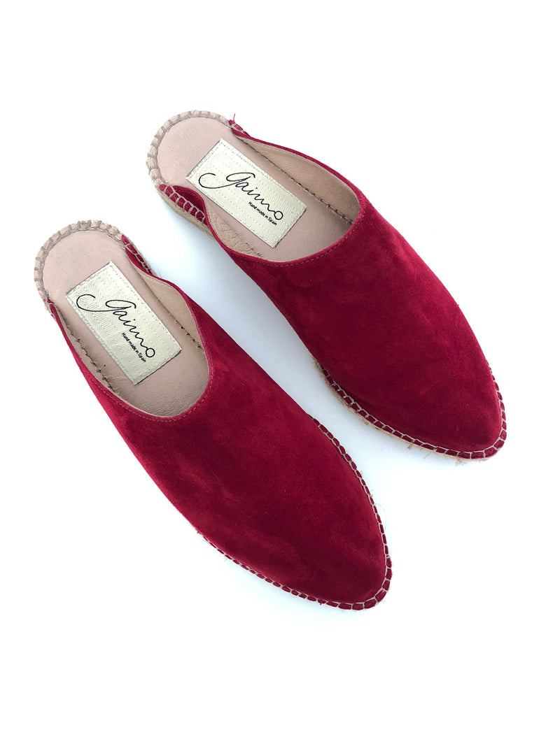 GAIMO - AREZZA RED SUEDE SLIP ON ESPADRILLE - SZ EUR 40 - NEW