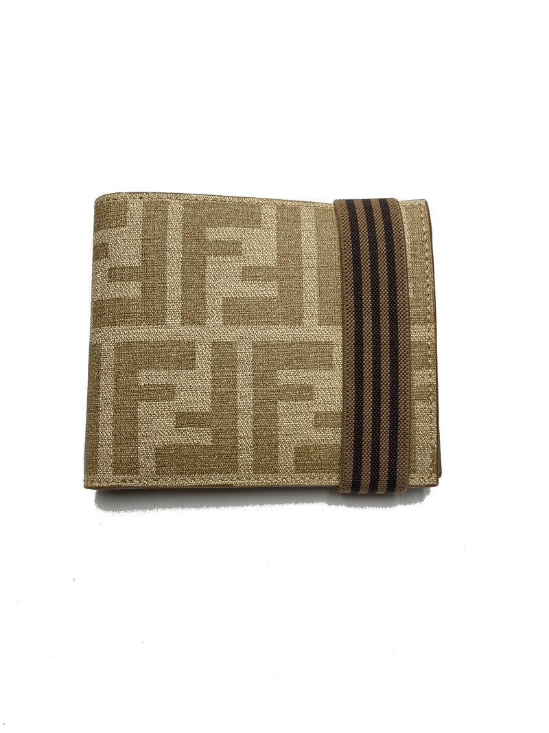 FENDI - ZUCCA PRINT BIFOLD WALLET WITH BAND MENS