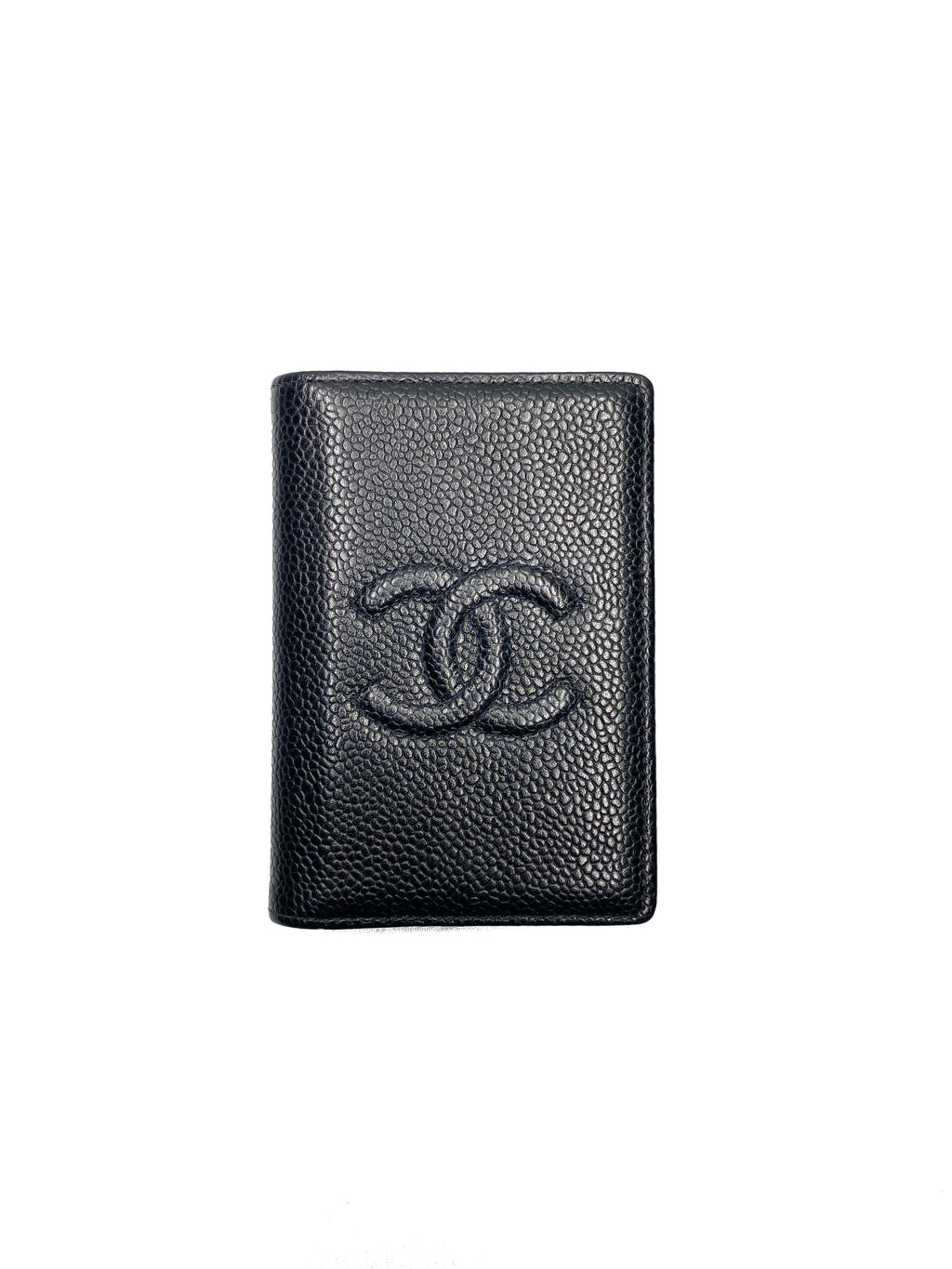 CHANEL - TIMELESS CC BLACK LEATHER CARD HOLDER POCKET ORGANISER