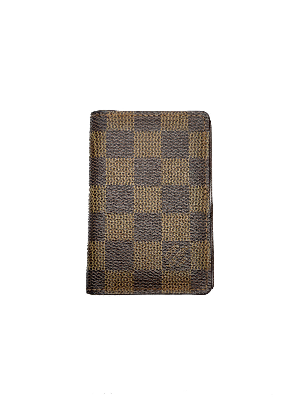LOUIS VUITTON - POCKET ORGANISER WALLET IN DAMIER EBENE