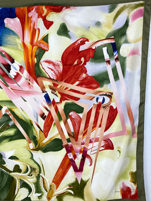 LOUIS VUITTON - LIMITED EDITION JAMES ROSENQUIST SCARF