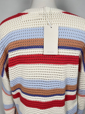 JOIE - DIZA MULTICOLOUR KNIT SWEATER - SZ LARGE - NEW WITH TAGS
