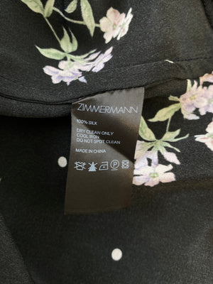 ZIMMERMANN - BLACK FLUTTER SMOCK DRESS - SZ 3 - NEW
