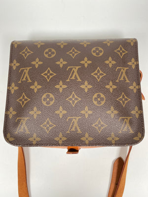 LOUIS VUITTON - CARTOUCHIERE MM CROSSBODY BAG IN MONOGRAM CANVAS
