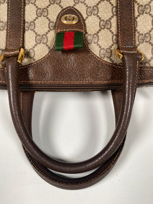 GUCCI - GG SUPREME CANVAS SMALL BOSTON BAG - VINTAGE