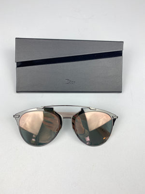DIOR - REFLECTED AVIATOR SUNNIES RUTHENIUM PINK/PEARL PINK
