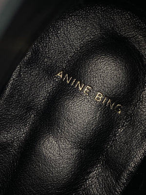 ANINE BING - PENNY ANKLE BOOTS BLACK - SZ 39 - WORN ONCE