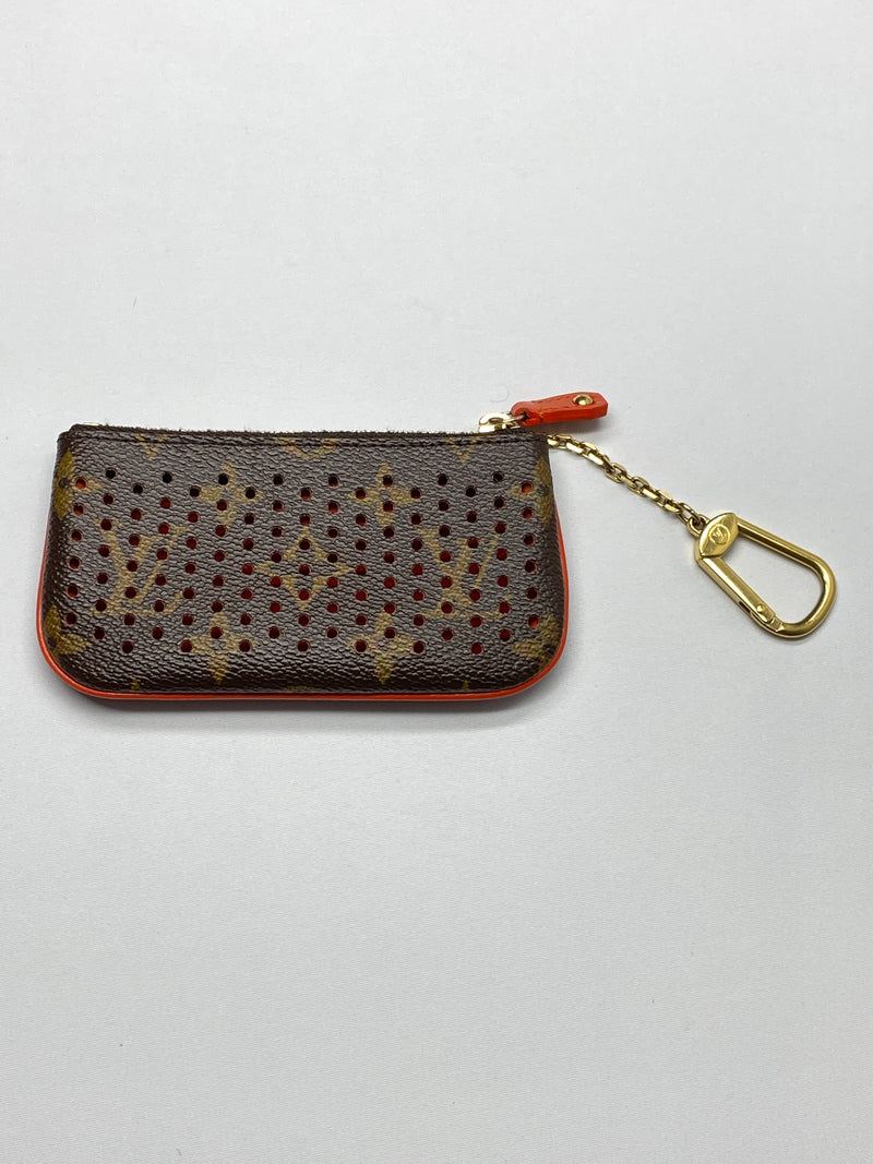 LOUIS VUITTON - MONOGRAM PERFORATED KEY POUCH ORANGE