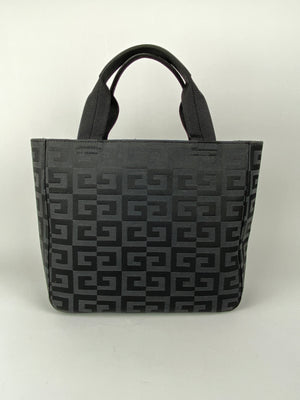 GIVENCHY - GG MONOGRAM CANVAS TOTE BLACK