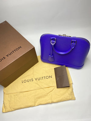 LOUIS VUITTON - ALMA PM BAG IN FIGUE EPI LEATHER