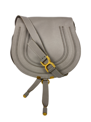 CHLOE - MARCIE MEDIUM CROSS BODY BAG IN CASHMERE GREY