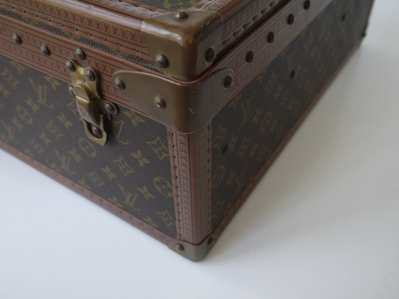 LOUIS VUITTON - ALZER 70 MONOGRAM CANVAS TRUNK - VINTAGE 1980's