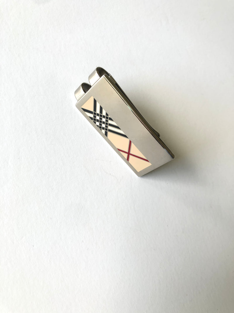 BURBERRY - STAINLESS STEEL MONEY CLIP