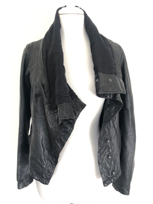 ALLSAINTS -  KAITO BLACK LEATHER JACKET - SZ 10