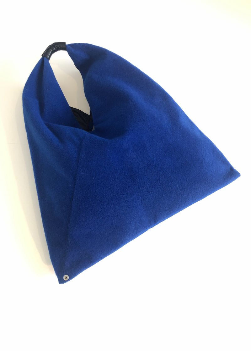 MM6 MAISON MARGIELA - TRIANGLE TOTE BAG COBALT BLUE