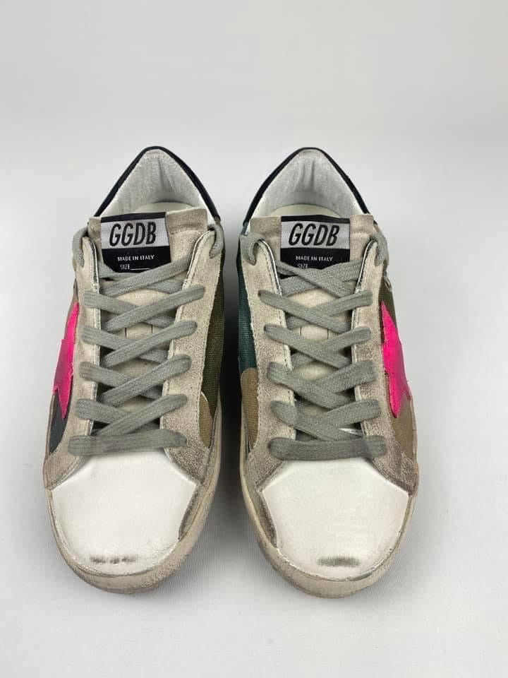 GGDB - CAMO & FUCHSIA SUPERSTARS - SZ 36 - NEW IN BOX