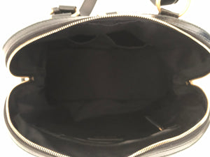 YVES SAINT LAURENT YSL - MUSE OVERSIZE BLACK PATENT LEATHER TOTE