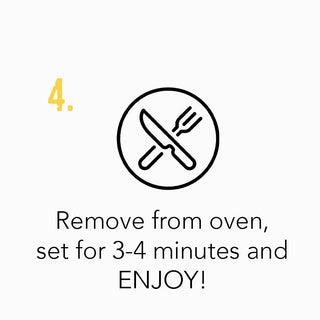 Step 4 - Remove from oven, set for 3-4 minutes and enjoy your pie!