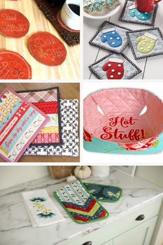 household items to sew and embroider - holiday gift ideas