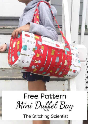 mini duffel bag free sewing tutorial