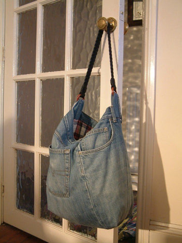 upcycled tote bag from denim jeans