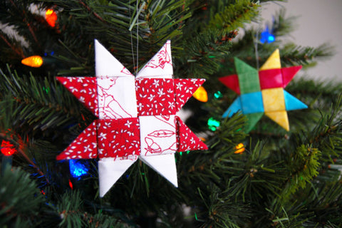 folded danish star sewing project