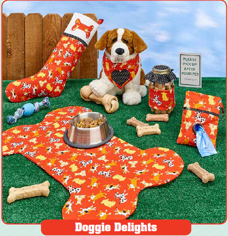 Free sewing pattern: doggie delights