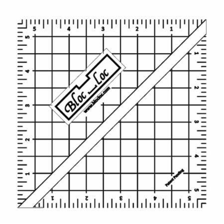 Bloc-Loc ruler for rotary cutting fabric - sewing and quilting