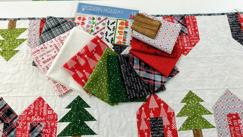 holiday lane runner quilt kit