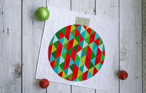 holiday ornament mini quilt project