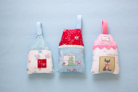 holiday house ornament sewing pattern