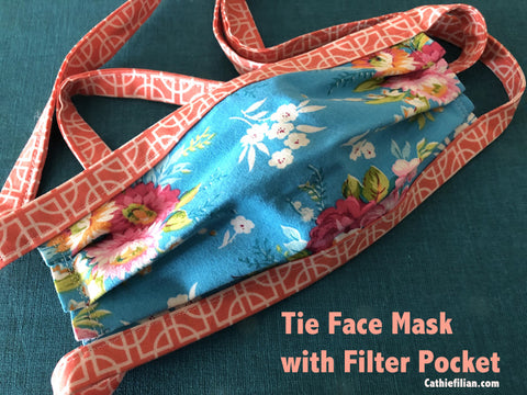 sewing a face mask with a filter pocket from Cathie Filian