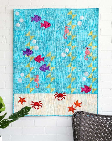 Underwater Sea Adventure Throw Quilt
