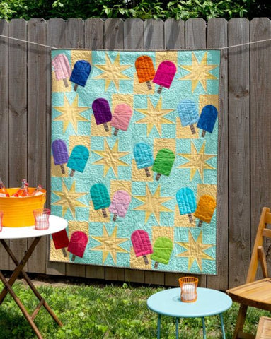 Popsicle Sticks Throw Quilt
