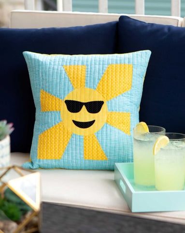 Sunshine Emojis Pillow