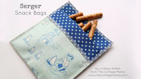 quick serger snack bags free sewing pattern