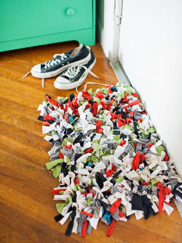 upcycled t-shirt rug