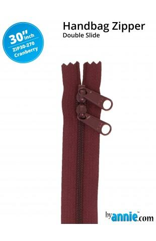 "30"" Double Slide Zipper Cranberry"