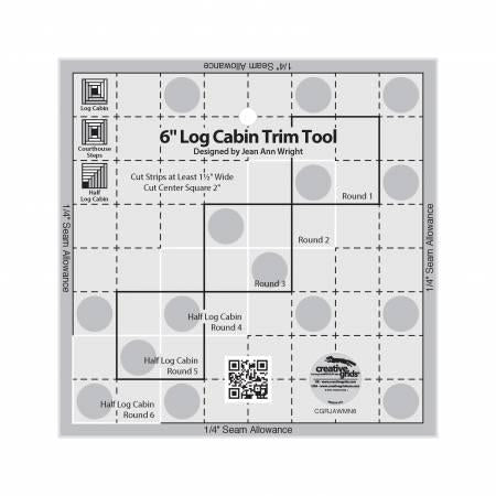 Creative Grids Log Cabin  Trim Tool 6in