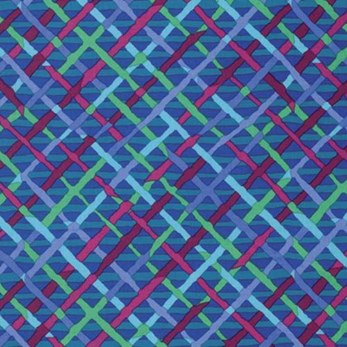 Mad Plaid Cobalt Kaffe Fassett