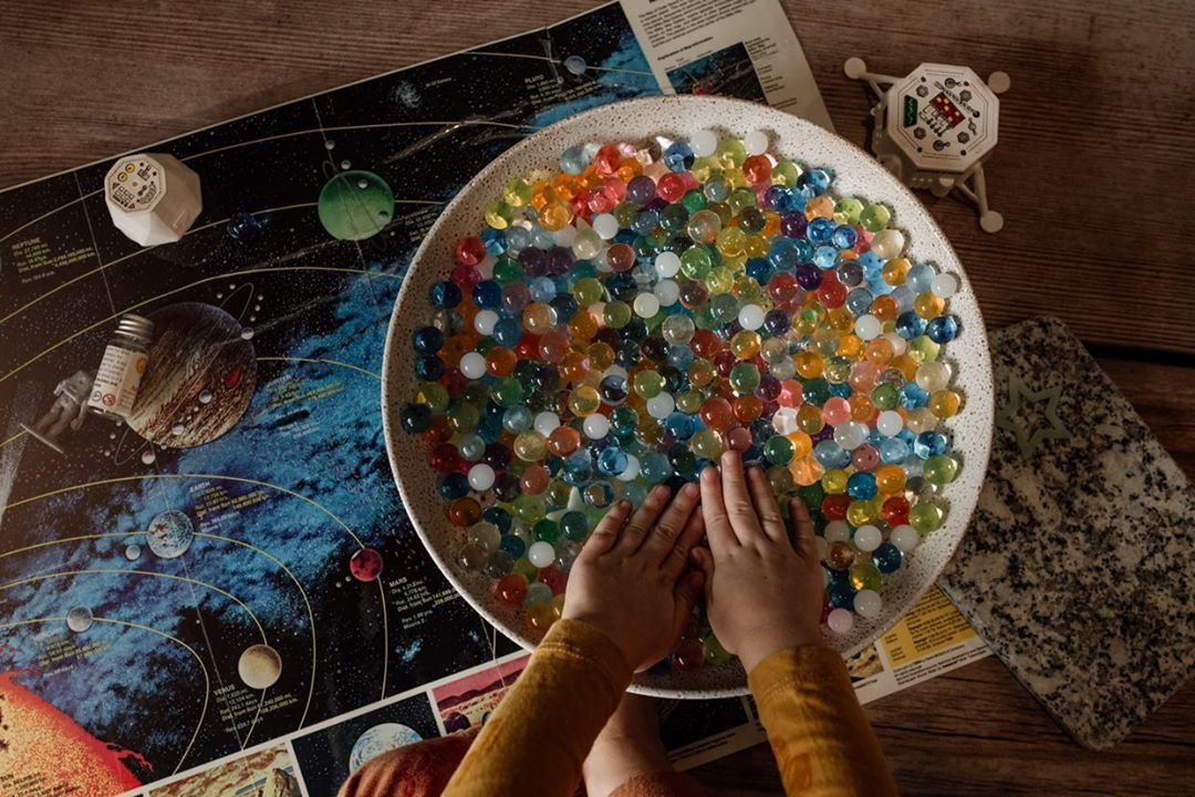 Huckleberry Sensory Water Marbles - Asteroids