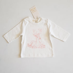 THRIFT Wilson & Frenchy - Little Dear Long Sleeve Top Size 0000